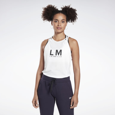 Women Studio White LES MILLS® SmartVent Tank Top