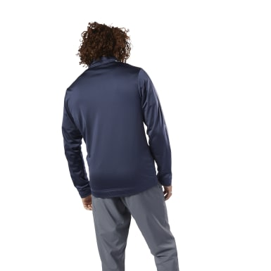 Men Fitness & Training Blue Training Essentials Linear Logo Track Jacket