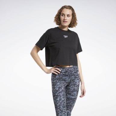 Women Classics Black Small Logo Cropped Tee