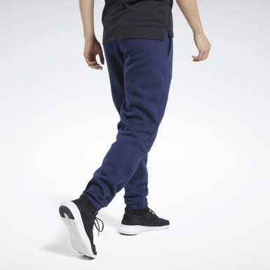 Men Fitness & Training Blue Training Essentials Cuffed Joggers