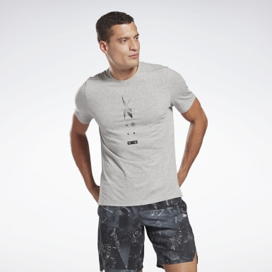 Men Fitness & Training Grey Speedwick Move T-Shirt