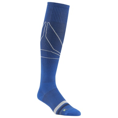 Men Training Blue Reebok Delta Knee High Compression Sock - 1 Pack