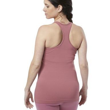 Women Studio Pink Seamless Maternity Tank Top