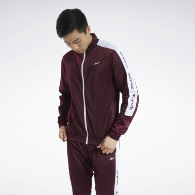 Men Fitness & Training Burgundy Training Essentials Track Top