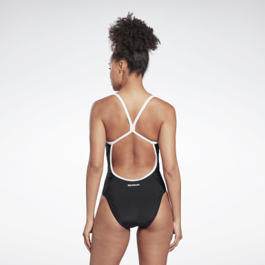 Women Swimming Black Reebok Adrienne Swimsuit