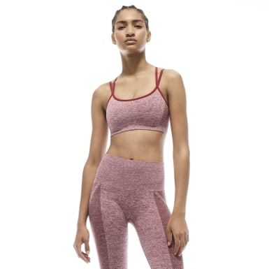 Women Training Pink Victoria Beckham Seamless Textured Bra