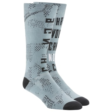 Training Blue Active Enhanced Printed Crew Socks
