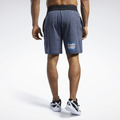 Men Cross Training Blue Reebok CrossFit® MyoKnit Shorts