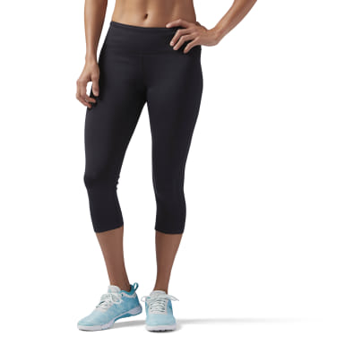 Women Training Black Workout Ready Capri