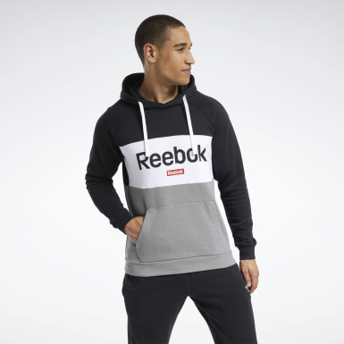 Mænd Fitness & Training Black Training Essentials Linear Logo Hoodie