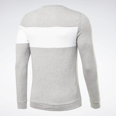 Men Fitness & Training Grey Training Essentials Fleece Crew Sweatshirt