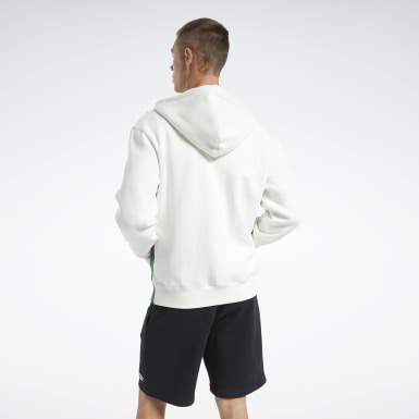 Men Classics White Classics Linear Full-Zip Hoodie