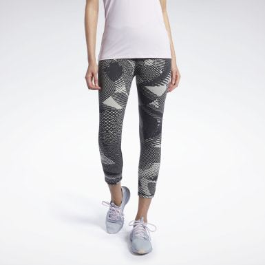 Women Hiking Reebok Lux 3/4 Tights 2.0 - Geo Static