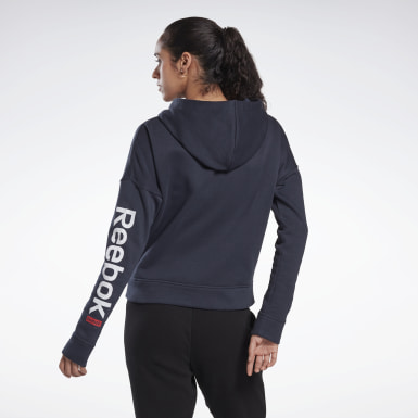 Women Fitness & Training Blue Linear Logo Sweatshirt
