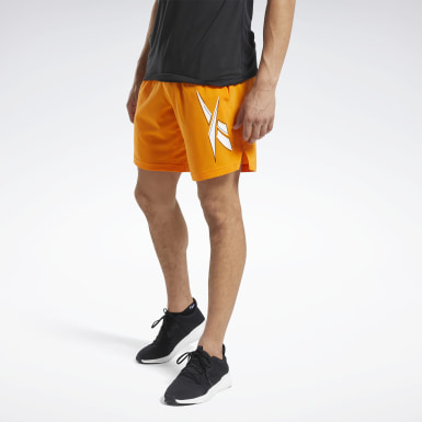Men Fitness & Training Orange Workout Ready Shorts