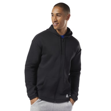 Hoodie de polar con zipper completo Workout Ready Negro Hombre Fitness & Training