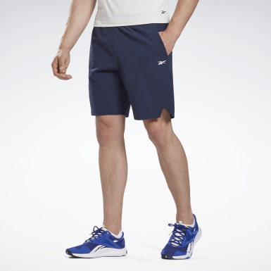Men Cycling Blue LES MILLS® 9-Inch Epic Shorts