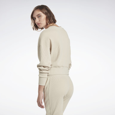 Women Studio Beige Studio Layer Sweatshirt