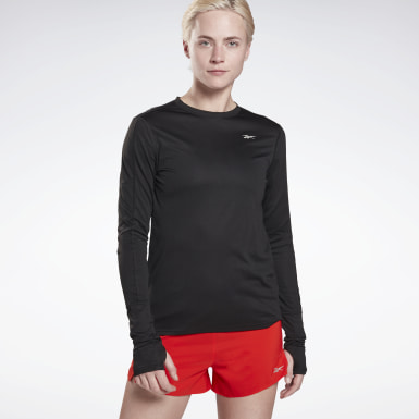 Women Trail Running Black Running Essentials Long Sleeve Shirt