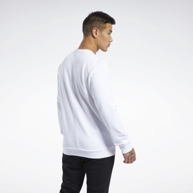 Men Training White Training Essentials Linear Logo Sweatshirt