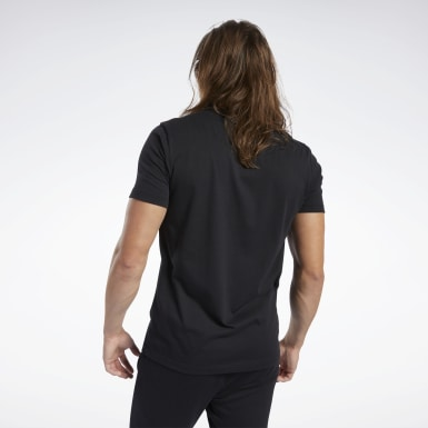 Polo Training Essentials Linear Logo Negro Hombre Entrenamiento Funcional