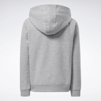 Kids Fitness & Training Grey Reebok Outline Hoodie