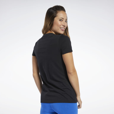 Camiseta Training Essentials Graphic Negro Mujer Fitness & Training