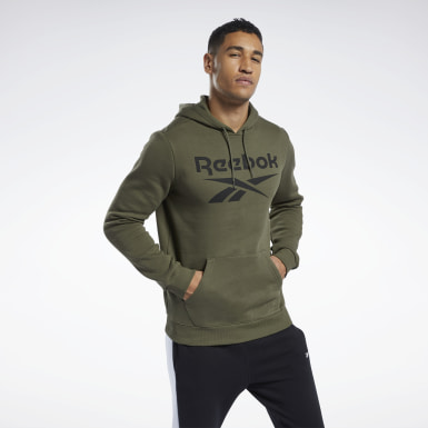 Men Training Green Training Essentials Big Logo Hoodie
