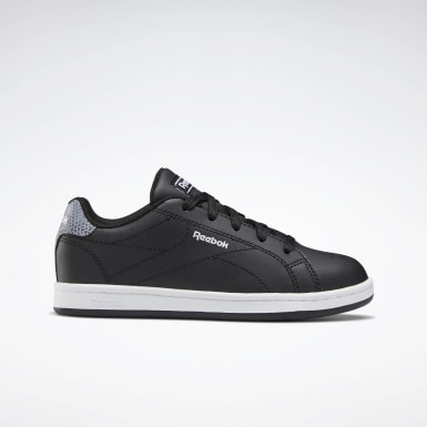 Boys Classics Black Reebok Royal Complete Clean 2.0 Shoes