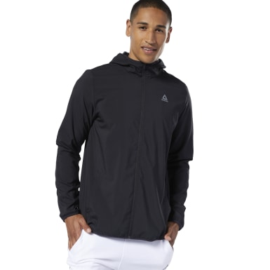 Veste en toile Running Essentials Noir Hommes Fitness & Training