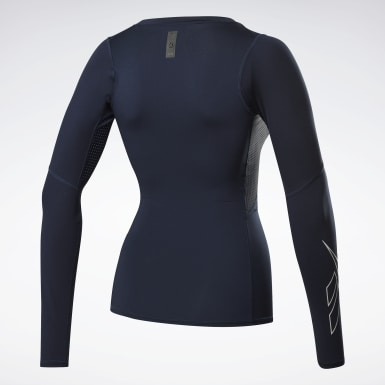 Frauen HIIT United by Fitness Compression Shirt Blau