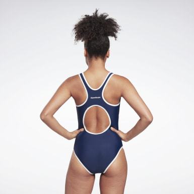 Women Swimming Blue Reebok Alyssa Swimsuit