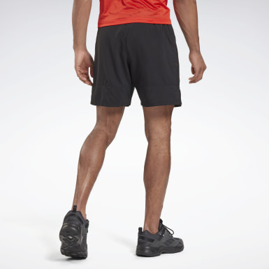Men Terrengløping Black Run Essentials 7-Inch Run Fast Shorts