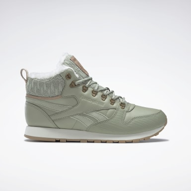 серый Ботинки Reebok Classic Leather Arctic