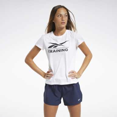 Dames Crosstraining Wit Reebok Training T-shirt