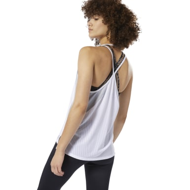 Camiseta sin mangas SmartVent Blanco Mujer Fitness & Training