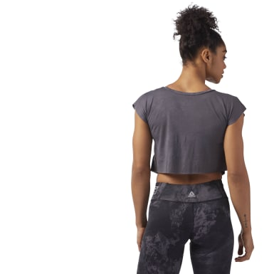 Women Combat Grey Combat SPRAYDYE CROP TEE