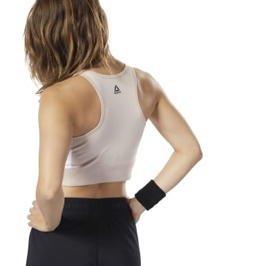 Women Studio Pink LES MILLS® Crop Top