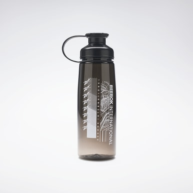Women Running Black Tech Style Water Bottle
