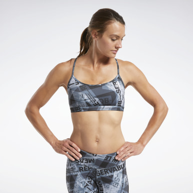 RC Skinny Bra AOP Noir Femmes Cross Training