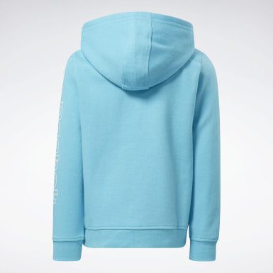 Girls Fitness & Training Turquoise Reebok Outline Hoodie