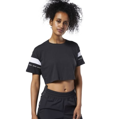 Women Fitness & Training Black Meet You There Colorblock Tee