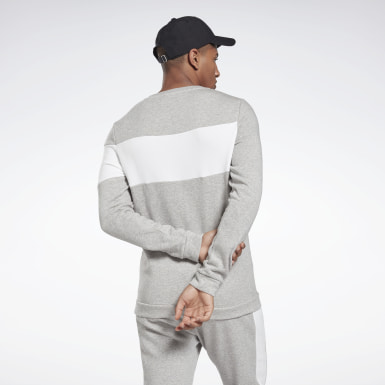 Mænd Fitness & Training Grey Training Essentials Fleece Crew Sweatshirt