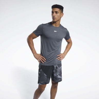 Men Fitness & Training Black Workout Ready Mélange Tee