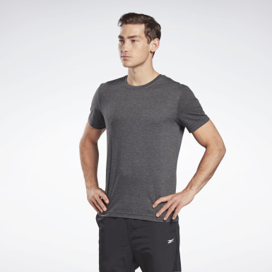 GB M SS TRIBLEND T VCTR Noir Hommes Fitness & Training
