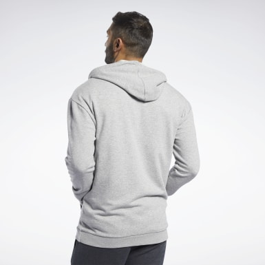 Men Fitness & Training Grey Training Essentials Hoodie