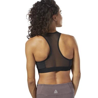 Crop top Color Block Violeta Mujer Fitness & Training