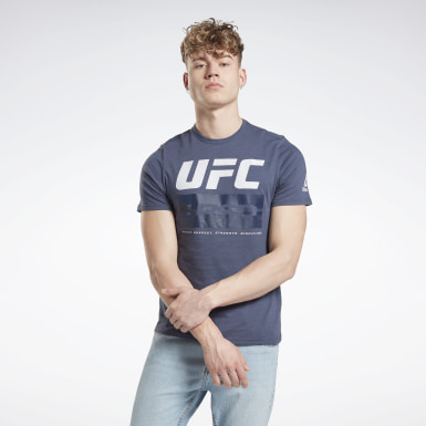 Männer Fitness & Training UFC Fight Week T-Shirt Blau