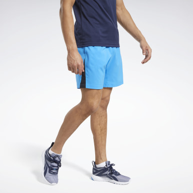Men Fitness & Training Blue Workout Ready Shorts