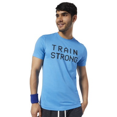 Polera Polo Gs Train Strong Tee Azul Hombre Fitness & Training